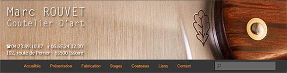 Site Coutelier Marc Rouvet